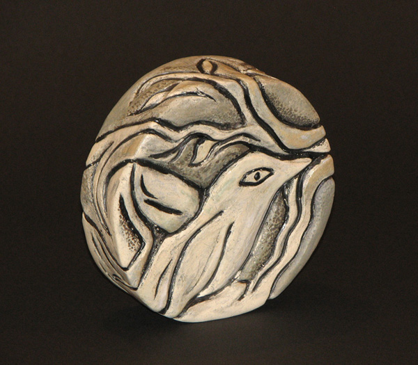 Ceramic Bird Rattle by Susan Cohen Thompson