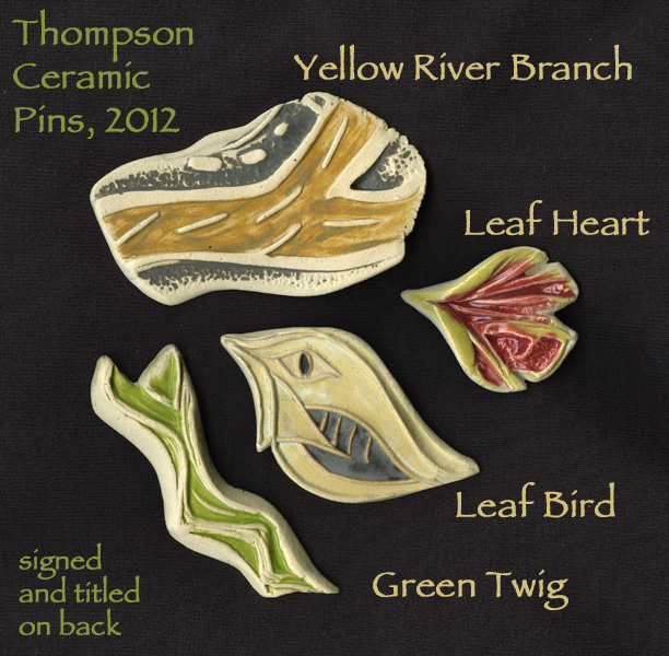 Ceramic Pins by Susan Cohen Thompson