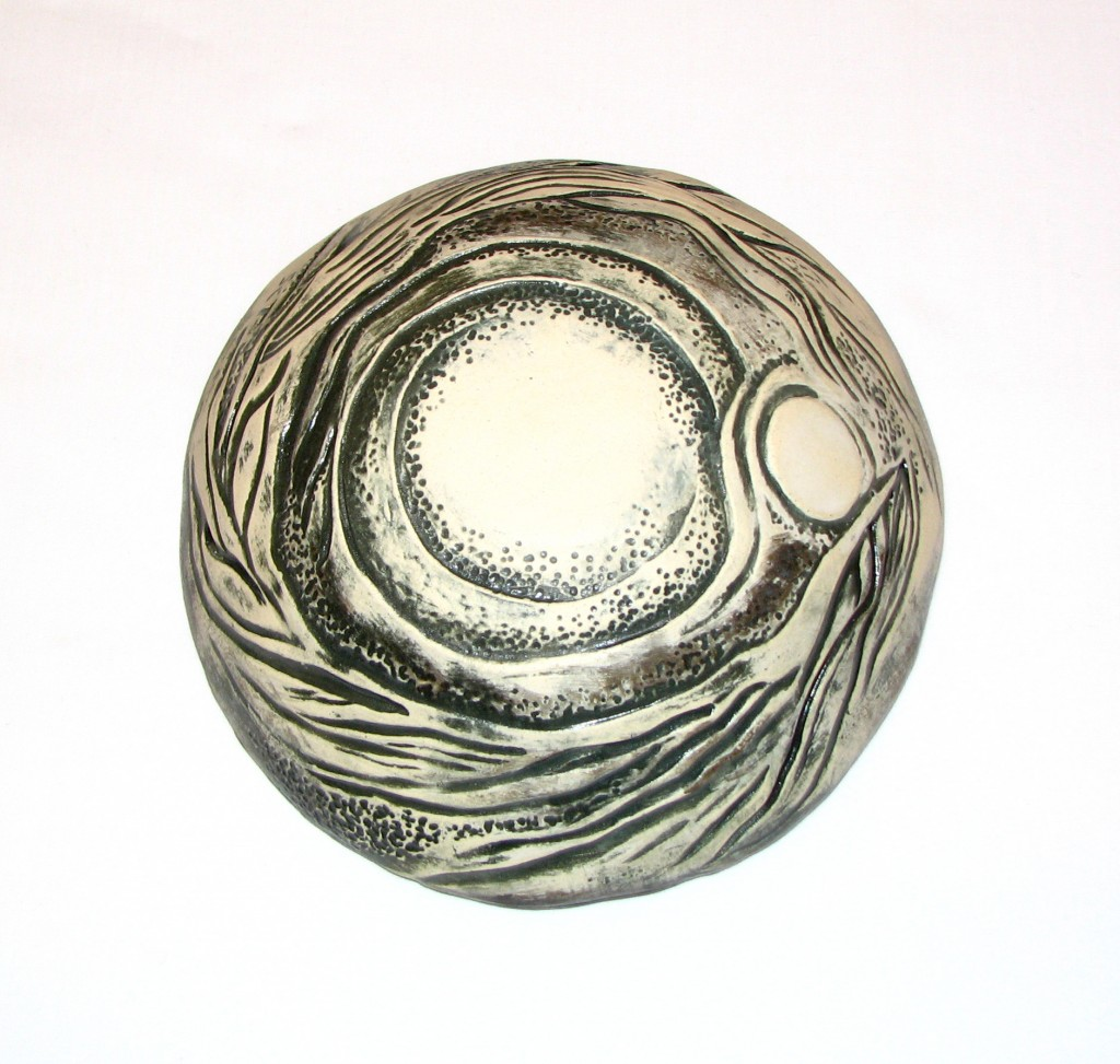 hand carved ceramic bowl by Susan Cohen Thompson